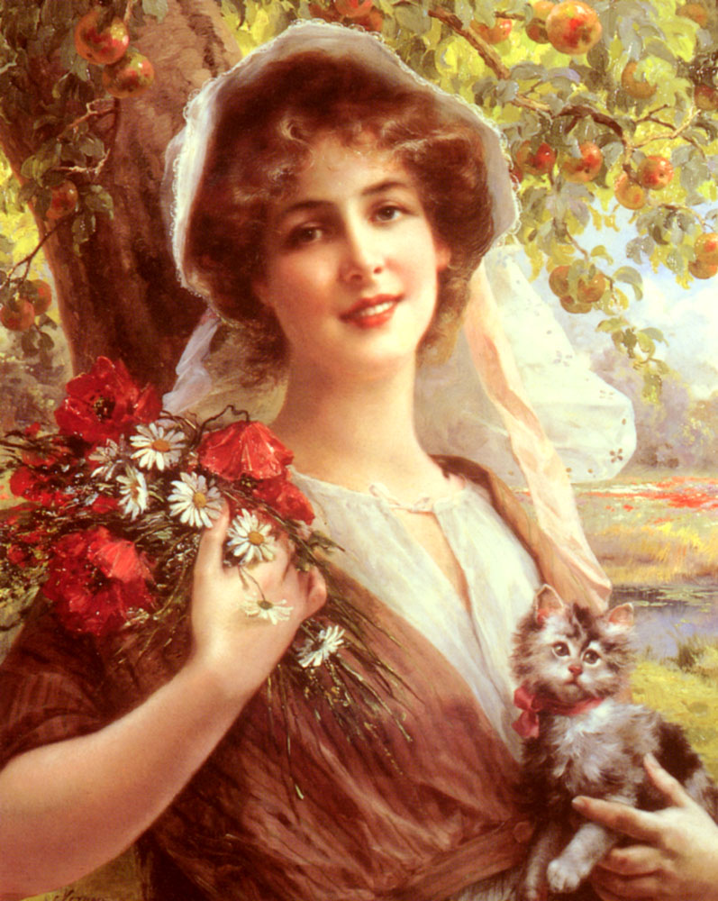 Country Summer :: Emile Vernon  - Young beauties portraits in art and painting ôîòî