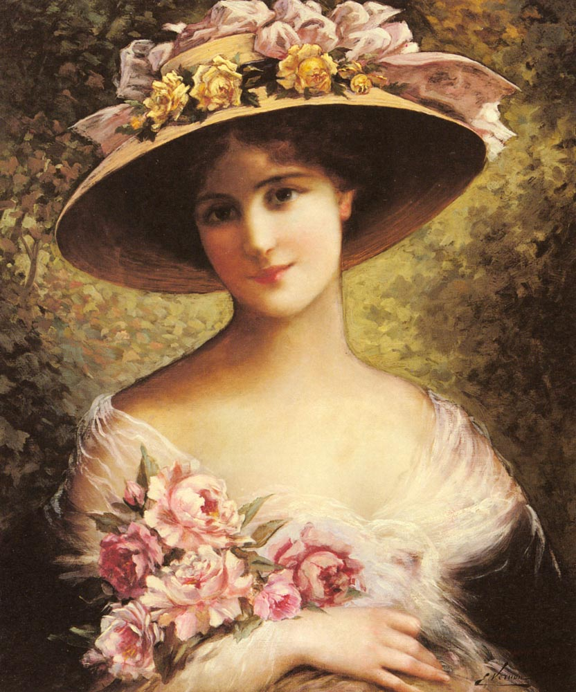 Vintage Paintings Of Women The Fancy Bonne...