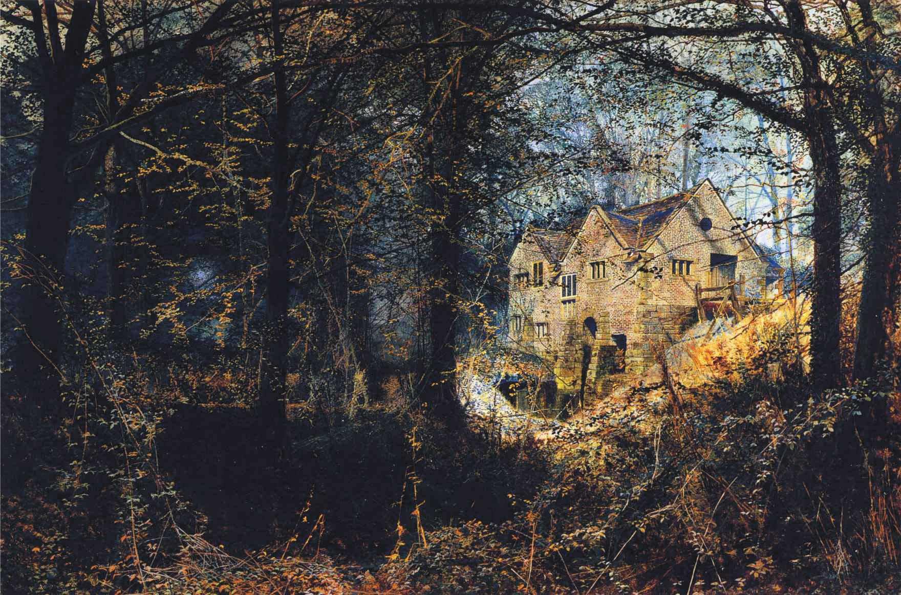 Autumn Glory :: John Atkinson Grimshaw  - Forest landscapes ôîòî