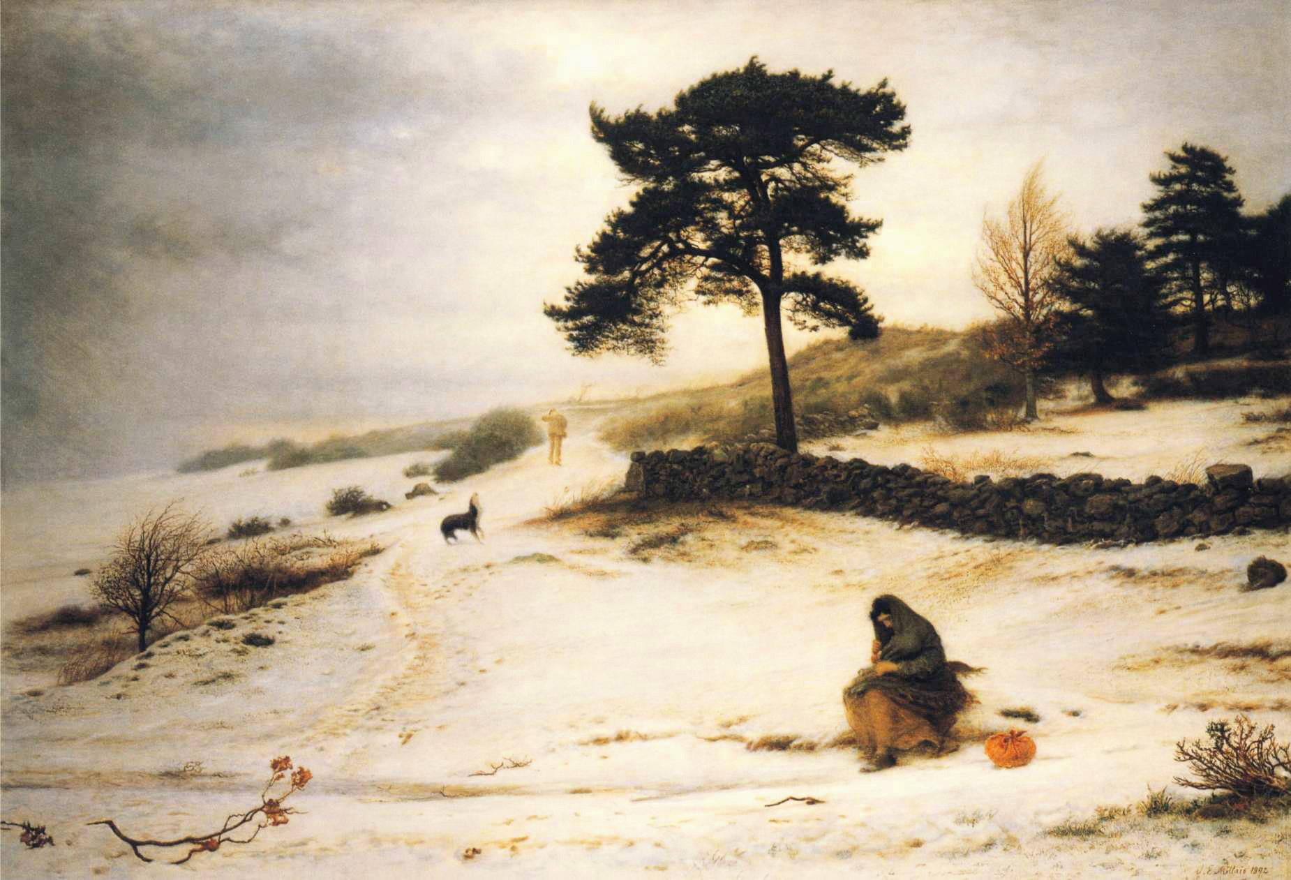 Blow, Blow Thou Winter Wind :: John Everett Millais - winter landscapes ôîòî