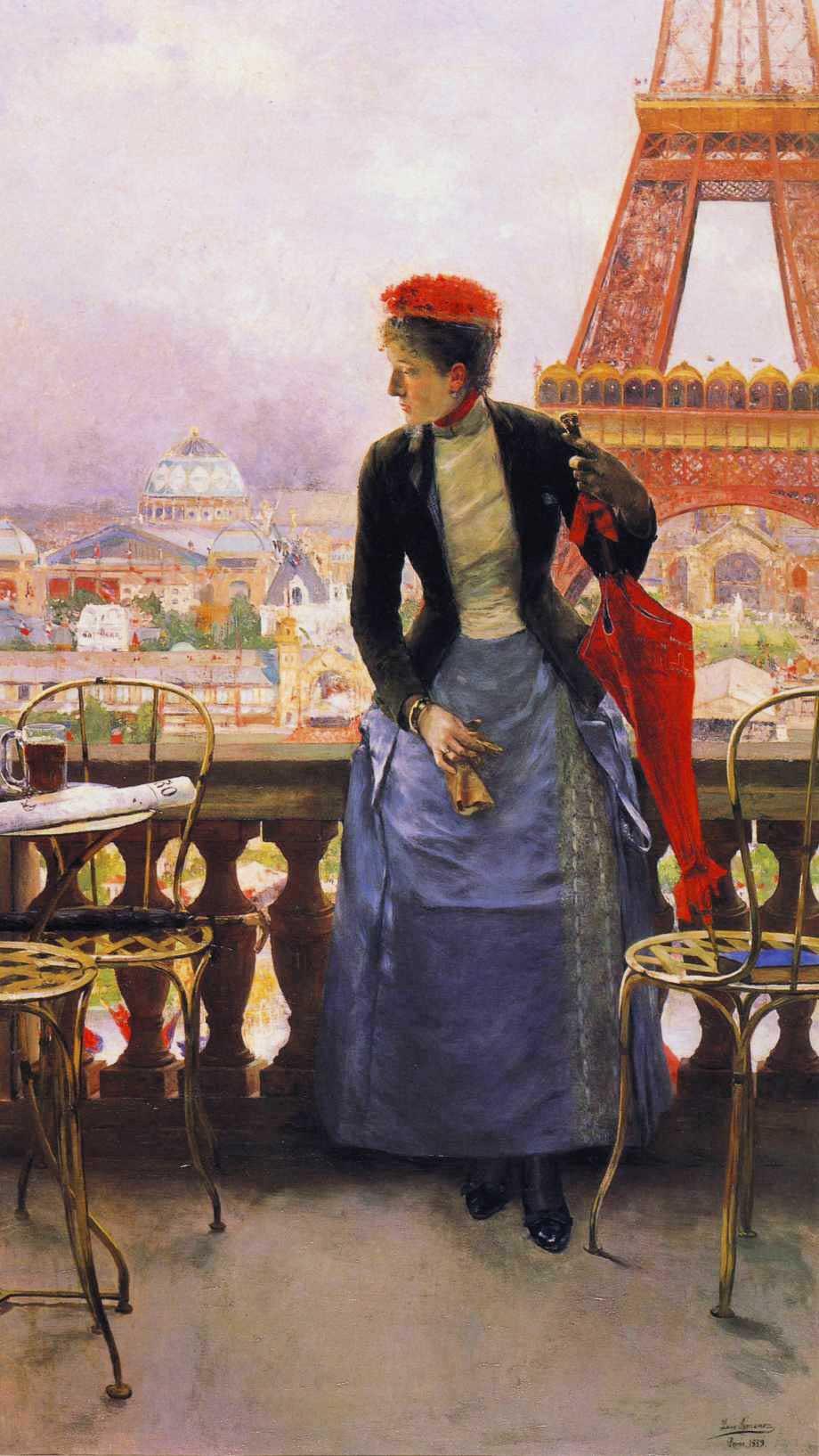 A Lady at the Paris Exposition :: Luis Jimenez y Aranda - Street and market genre scenes ôîòî