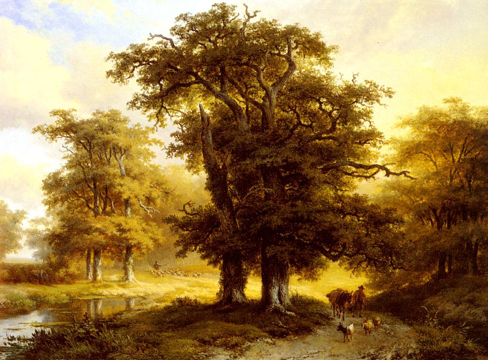 The Country Road :: Eugene Verboeckhoven - Forest landscapes ôîòî
