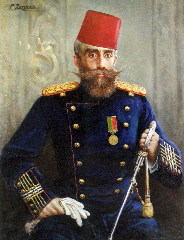 Portrait of Mahmud Sevket Pasha :: Fausto Zonaro - Portraits of elderly men ôîòî