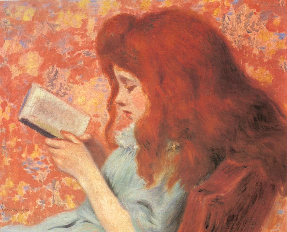 Young Girl Reading :: Federigo Zandomeneghi - Portraits of young girls in art and painting ôîòî