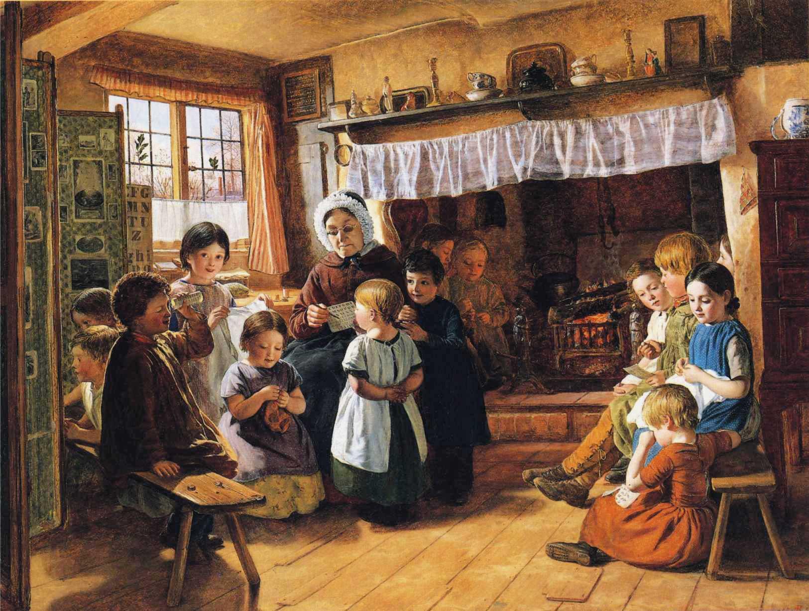 The Village School :: Alfred Rankley - Children's portrait in art and painting ôîòî