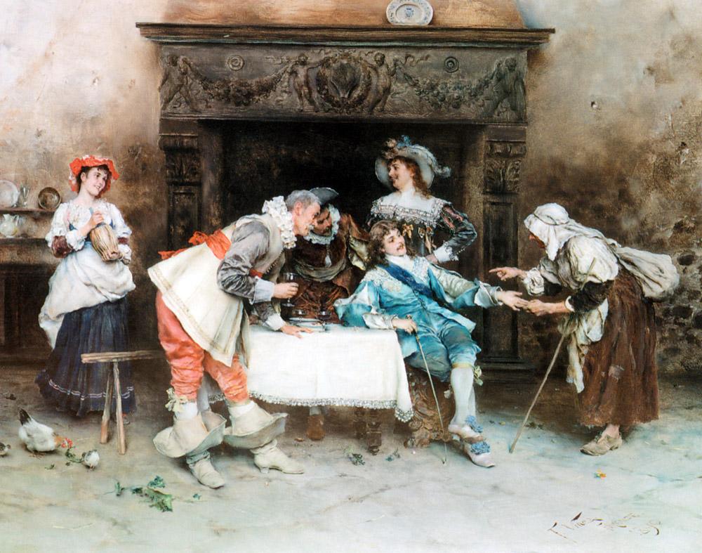 Good Health and Good Fortune :: Francesco Vinea - Romantic scenes in art and painting ôîòî