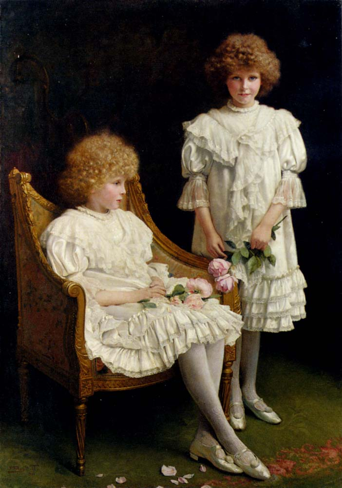 Portrait Of Iris And Vera Ford :: Frank Percy Wild - Portraits of young girls in art and painting ôîòî