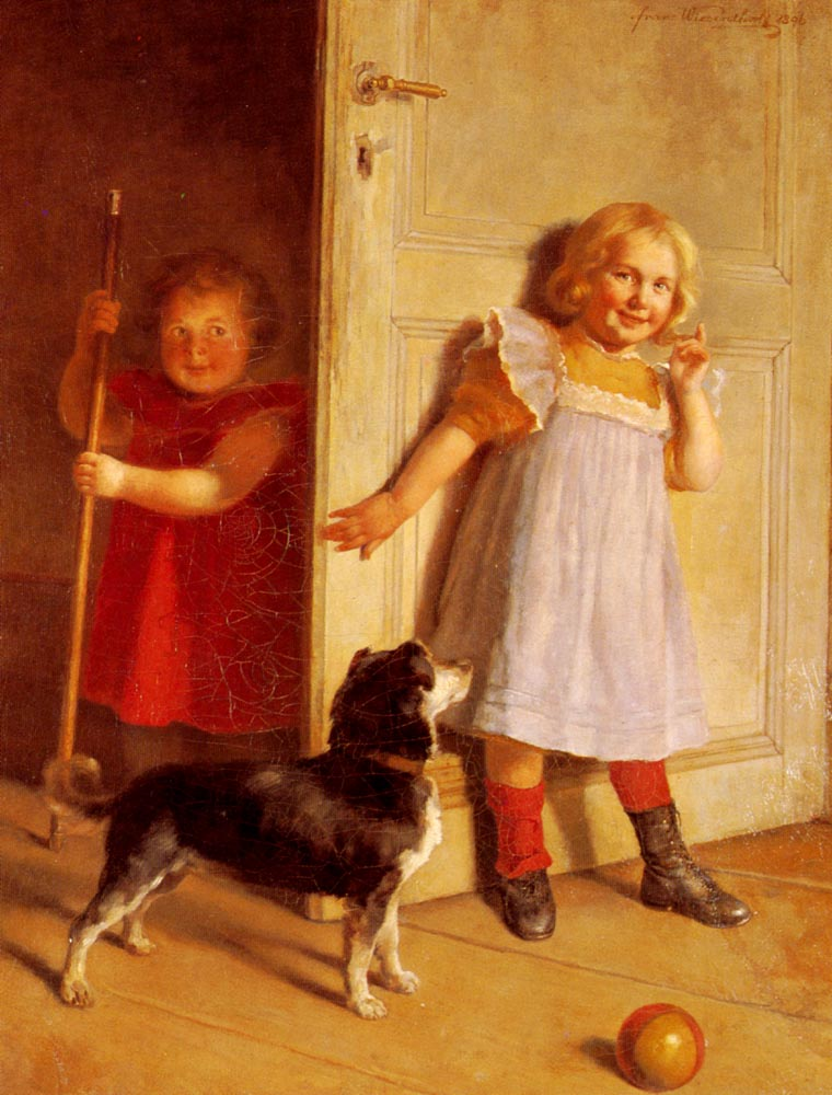 The Children's Game :: Franz Wiesenthal - Portraits of young girls in art and painting ôîòî