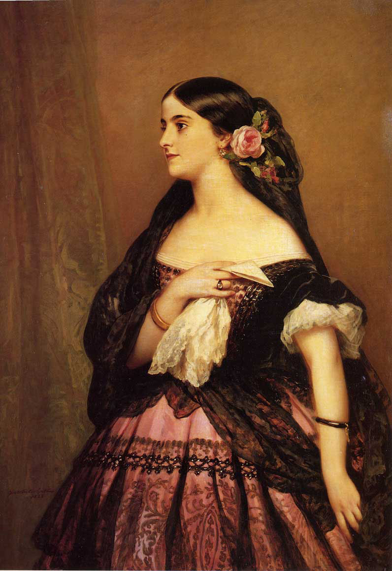 Adelina Patti :: Franz Xavier Winterhalter - 6 woman's portraits hall ( The middle of 19 centuries ) in art and painting ôîòî