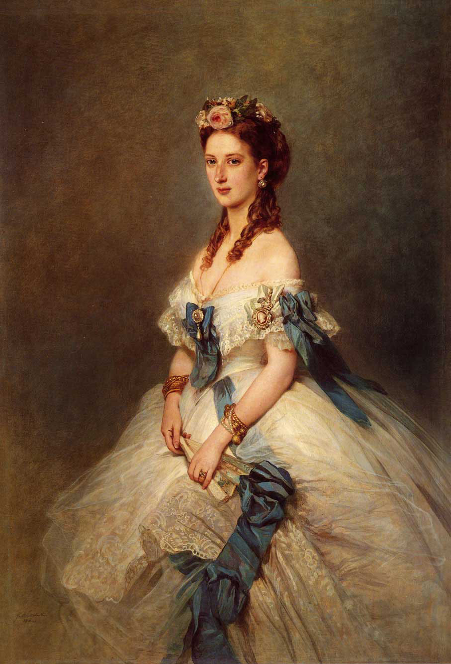 Alexandra, Princess of Wales :: Franz Xavier Winterhalter - 6 woman's portraits hall ( The middle of 19 centuries ) in art and painting ôîòî