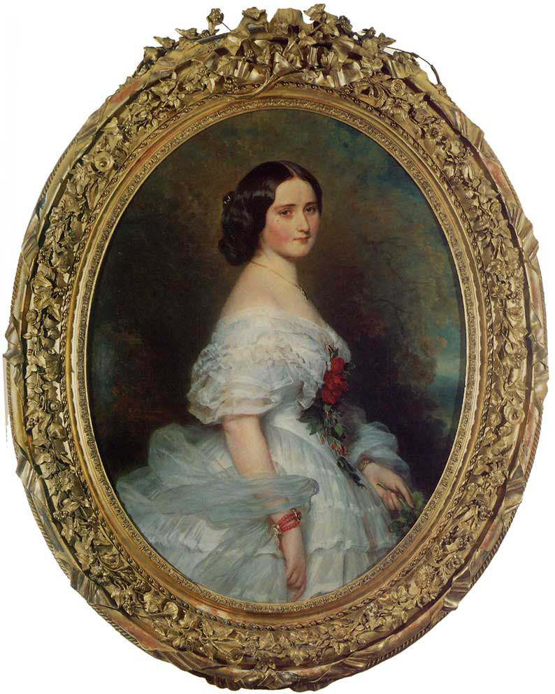Anna Dollfus, Baronne de Bourgoing :: Franz Xavier Winterhalter - 6 woman's portraits hall ( The middle of 19 centuries ) in art and painting ôîòî