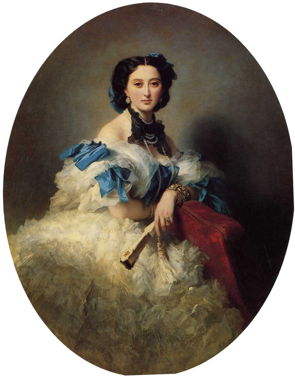 Countess Varvara Alekseyevna Musina-Pushkina :: Franz Xavier Winterhalter - 6 woman's portraits hall ( The middle of 19 centuries ) in art and painting ôîòî