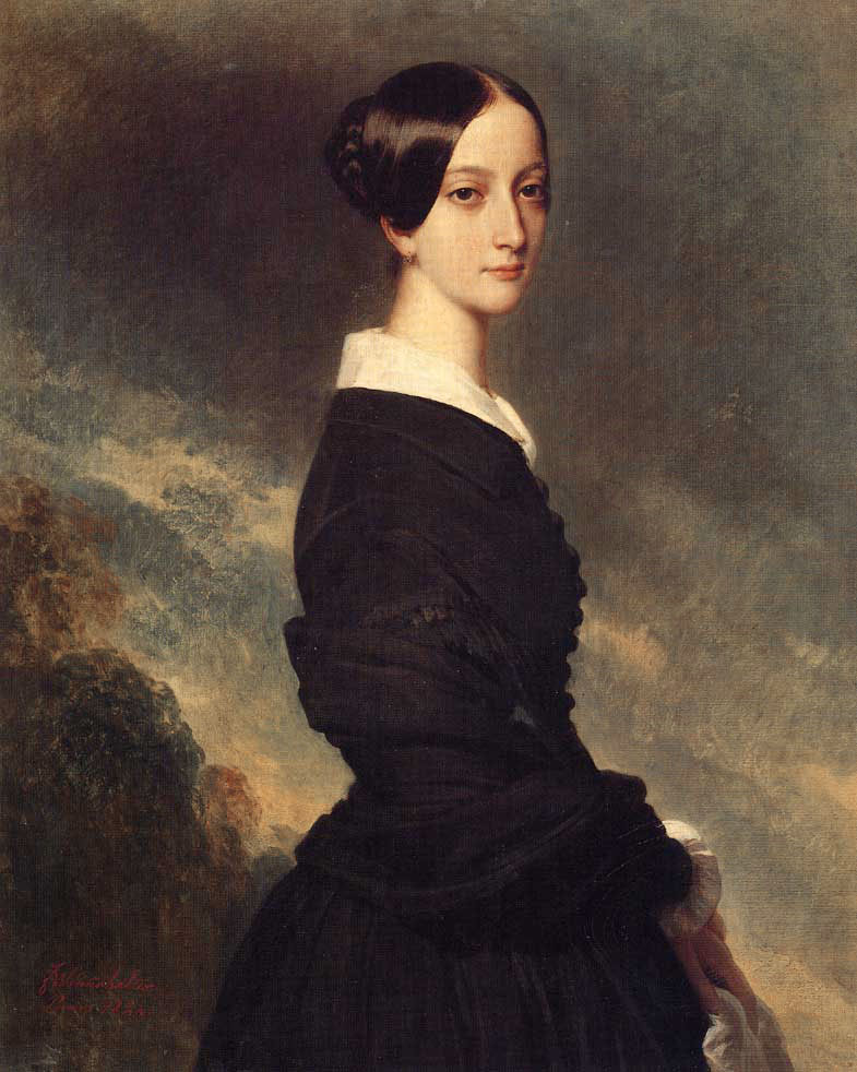 Francoise Caroline Gonzague, Princesse de Joinville :: Franz Xavier Winterhalter - 6 woman's portraits hall ( The middle of 19 centuries ) in art and painting ôîòî