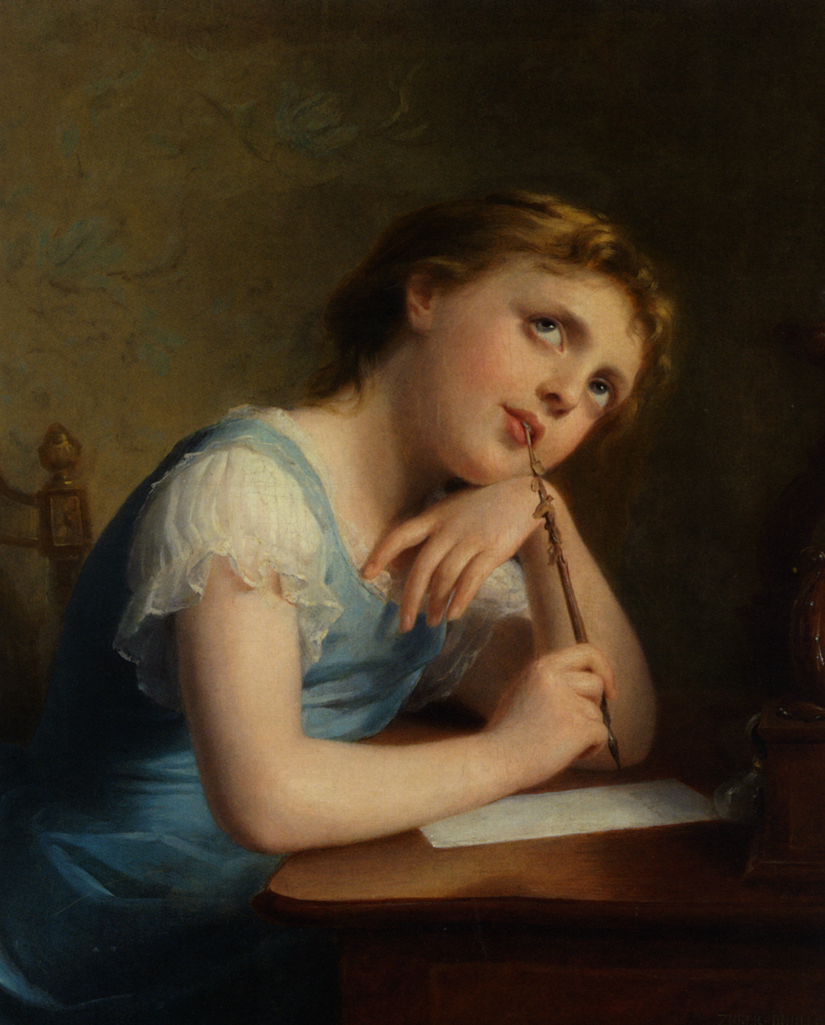 Distant Thoughts :: Fritz Zuber-Buhler - Portraits of young girls in art and painting ôîòî