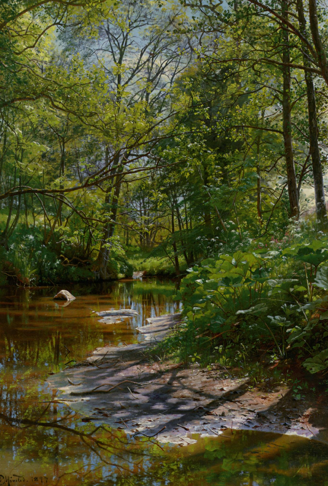 A River Landscape :: Peder Mork Monsted  - River landscapes ôîòî
