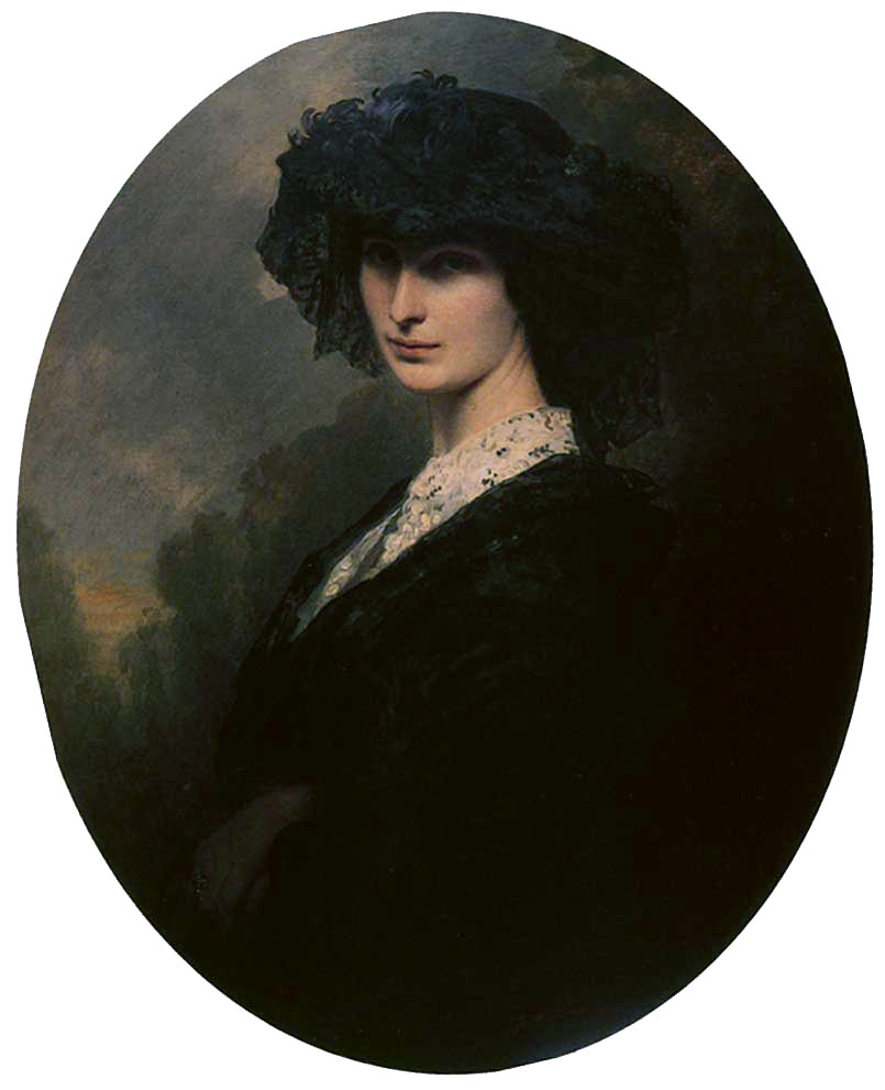 Jadwiga Potocka, Countess Branicka :: Franz Xavier Winterhalter - 6 woman's portraits hall ( The middle of 19 centuries ) in art and painting ôîòî