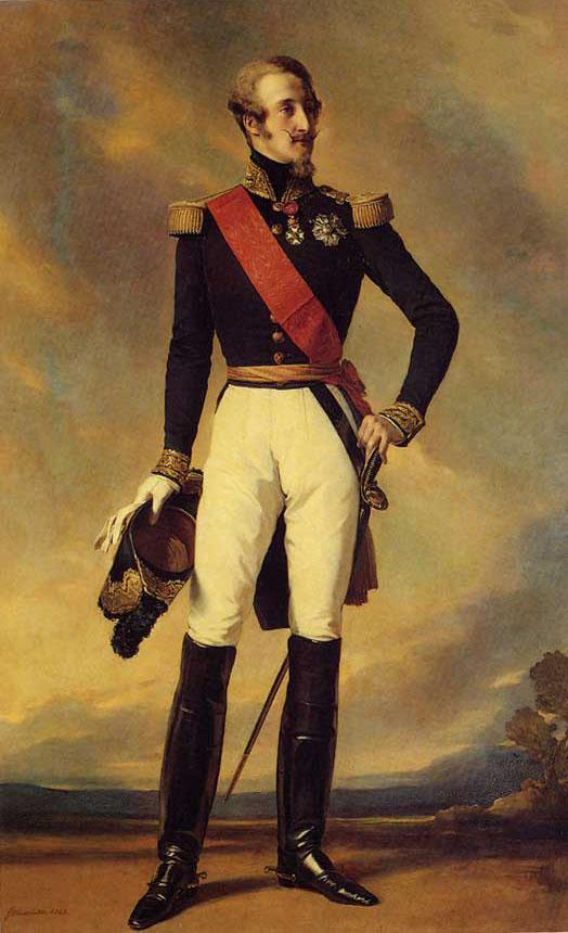 Louis Charles Philippe Raphael D'Orleans, Duc de Nemours :: Franz Xavier Winterhalter - men's portraits 19th century (first half) ôîòî