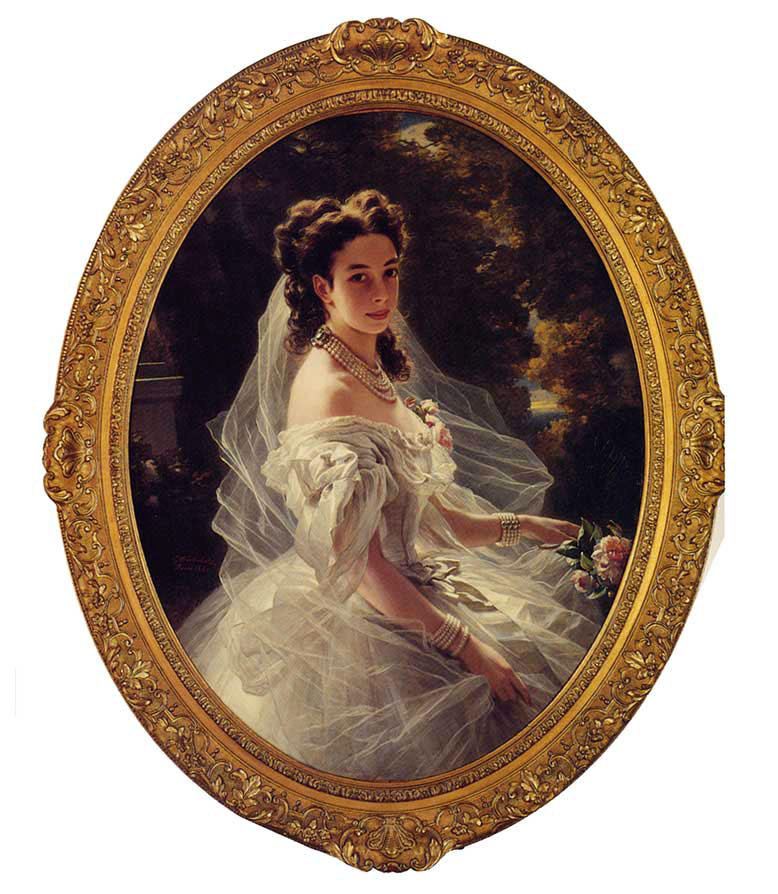 Pauline Sandor, Princess Metternich :: Franz Xavier Winterhalter - 6 woman's portraits hall ( The middle of 19 centuries ) in art and painting ôîòî