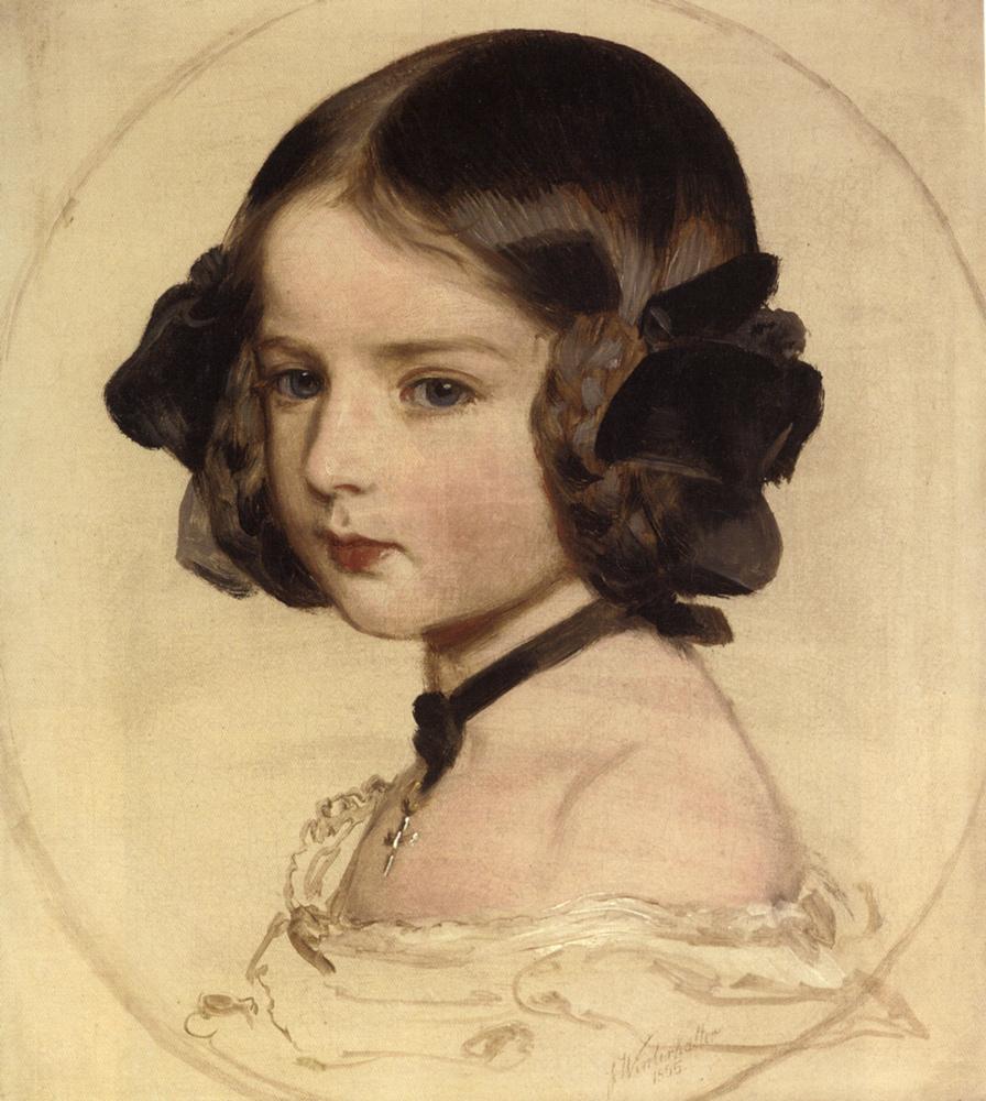 Pincess Clothilde von Saxen Coburg :: Franz Xavier Winterhalter  - Portraits of young girls in art and painting ôîòî