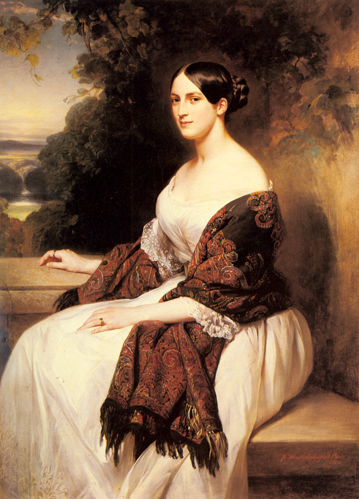 Portrait of Madame Ackerman, the wife of the Chief Finance Minister of King Louis Philippe :: Franz Xavier Winterhalter - 6 woman's portraits hall ( The middle of 19 centuries ) in art and painting ôîòî