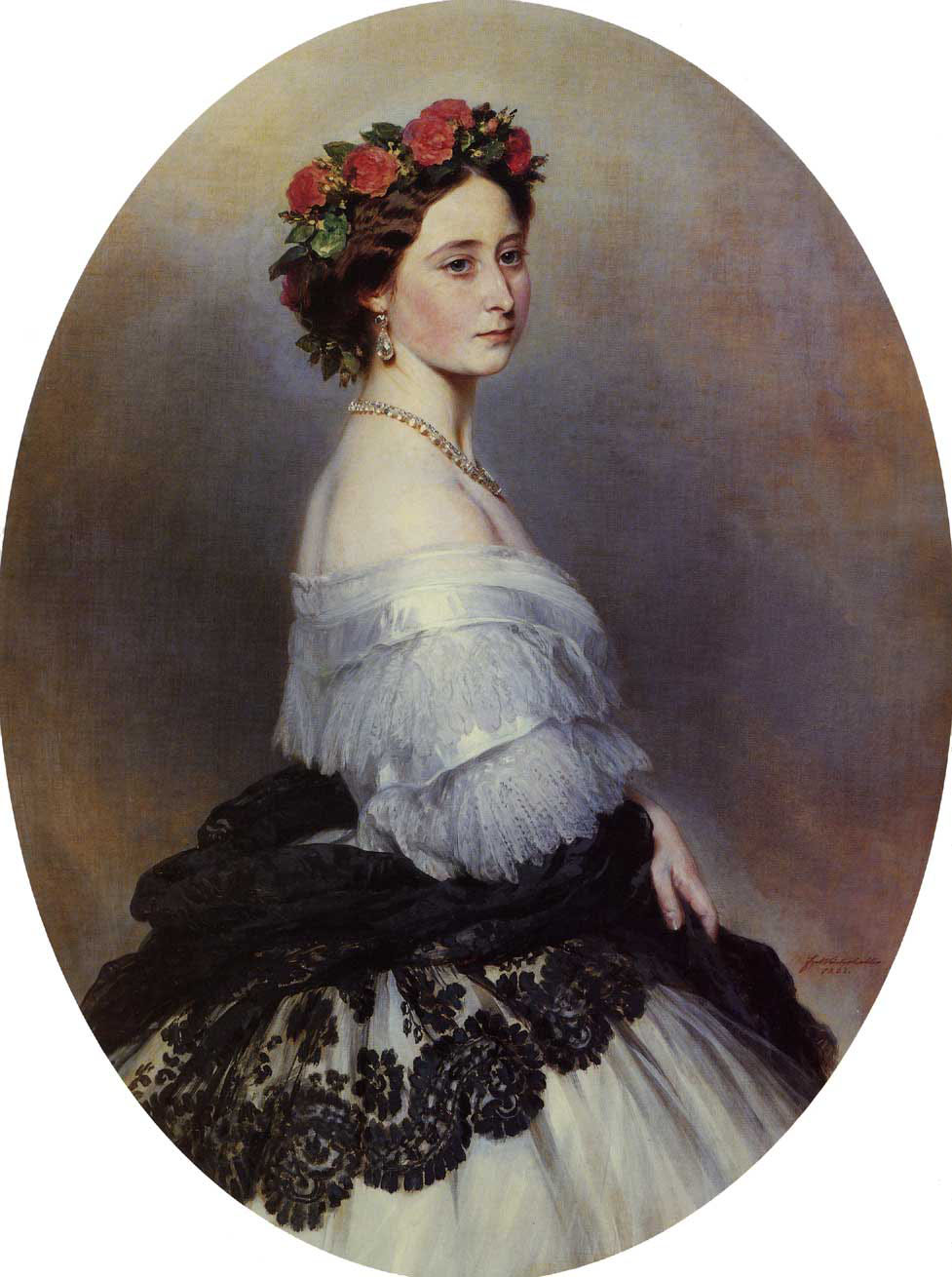 Princess Alice :: Franz Xavier Winterhalter - 6 woman's portraits hall ( The middle of 19 centuries ) in art and painting ôîòî