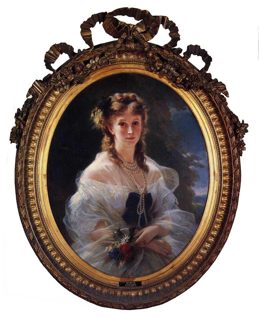 Princess Sophie Troubetskoi, Duchess de Morny :: Franz Xavier Winterhalter - 6 woman's portraits hall ( The middle of 19 centuries ) in art and painting ôîòî