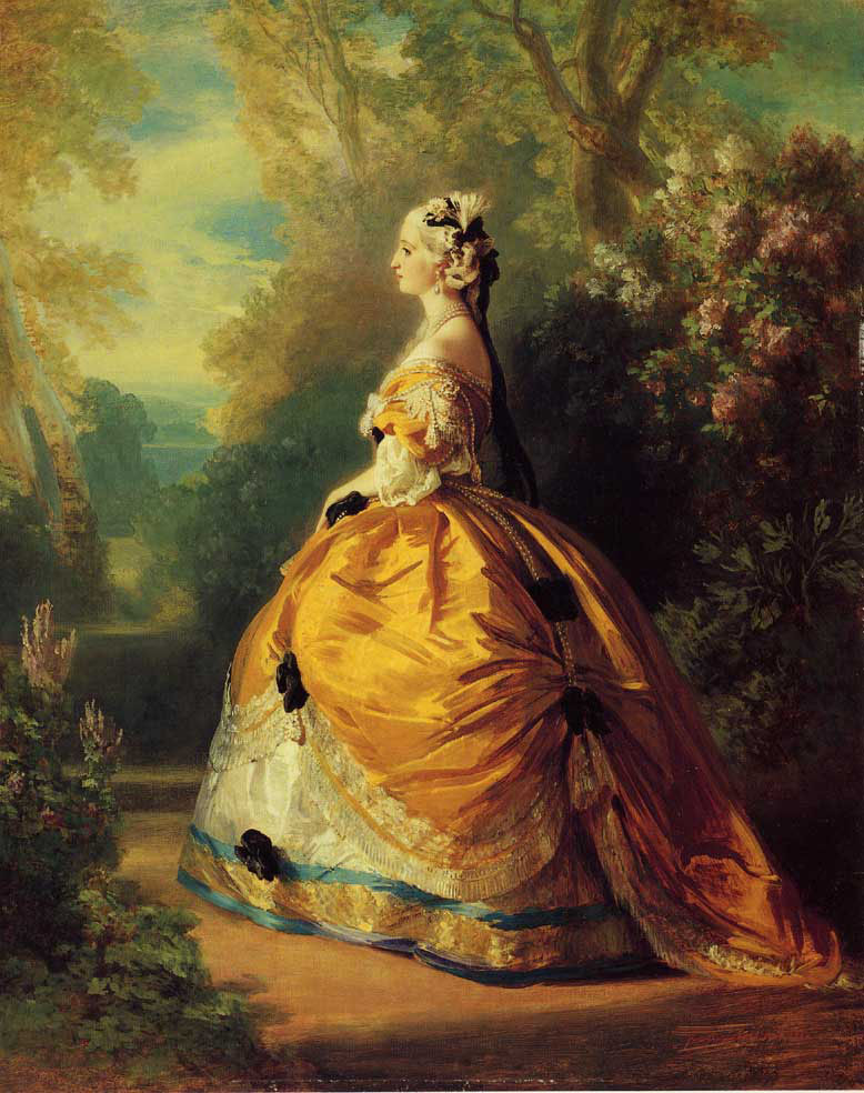 The Empress Eugenie a la Marie-Antoinette :: Franz Xavier Winterhalter - 6 woman's portraits hall ( The middle of 19 centuries ) in art and painting ôîòî