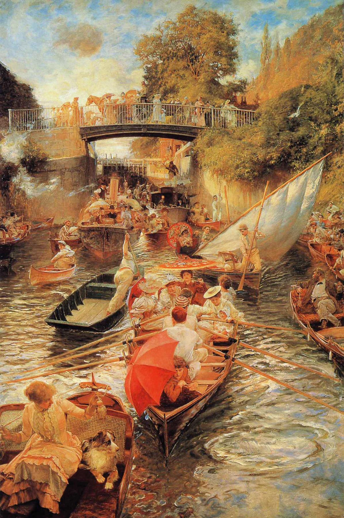 Boulter's Lock, Sunday Afternoon 1897-1898 :: Edward John Gregory - Picnic ôîòî