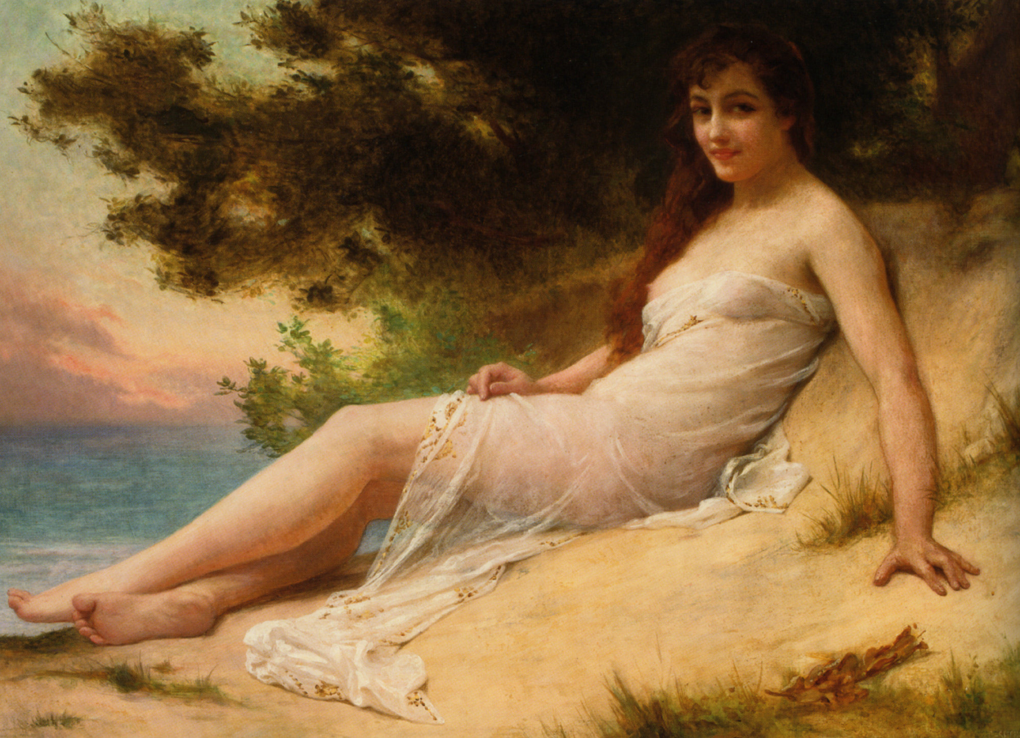Solitude :: Guillaume Seignac - Young beauties portraits in art and painting ôîòî