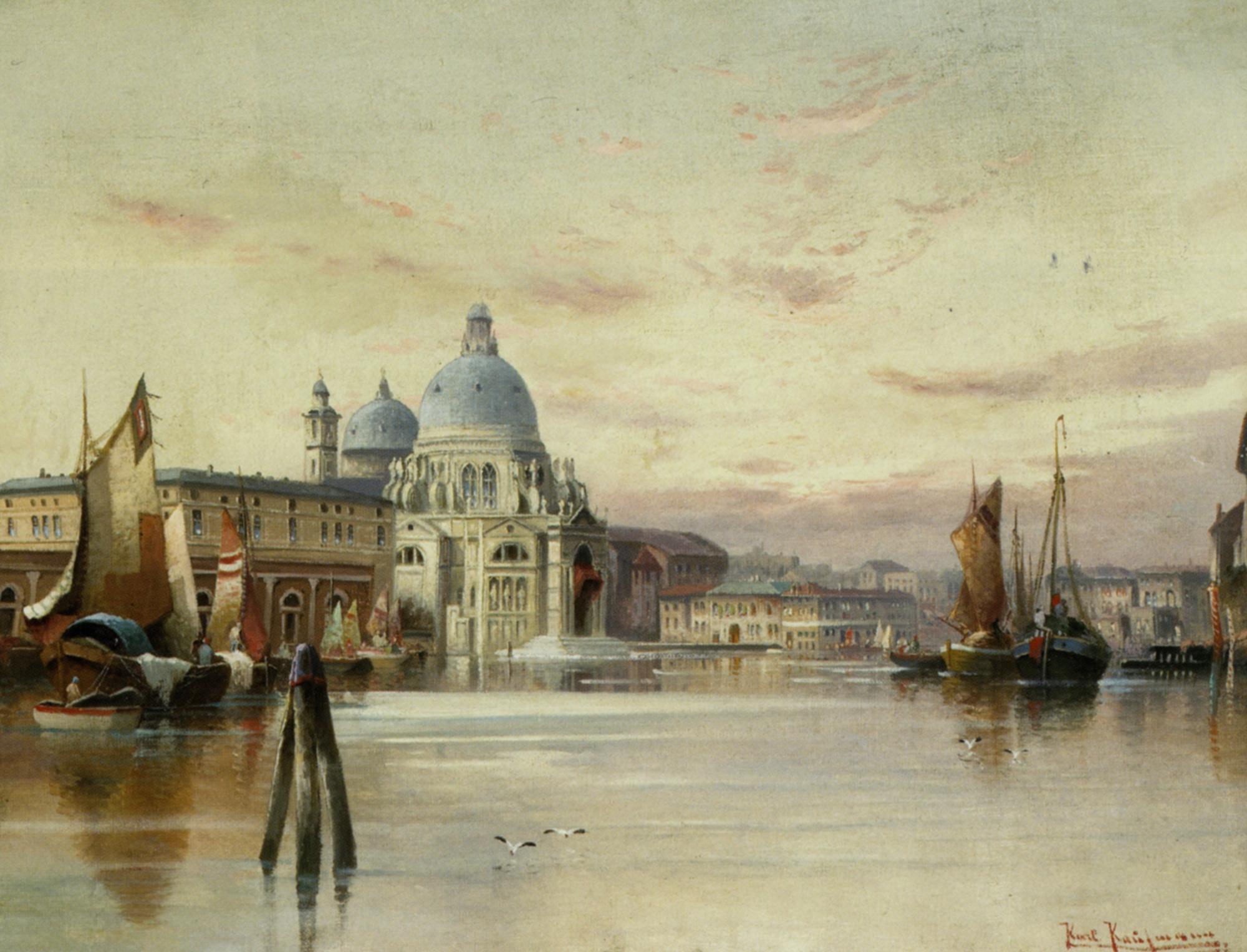 View of Danta Maria della Salute at Sunset :: Karl Kaufmann - Venice ôîòî