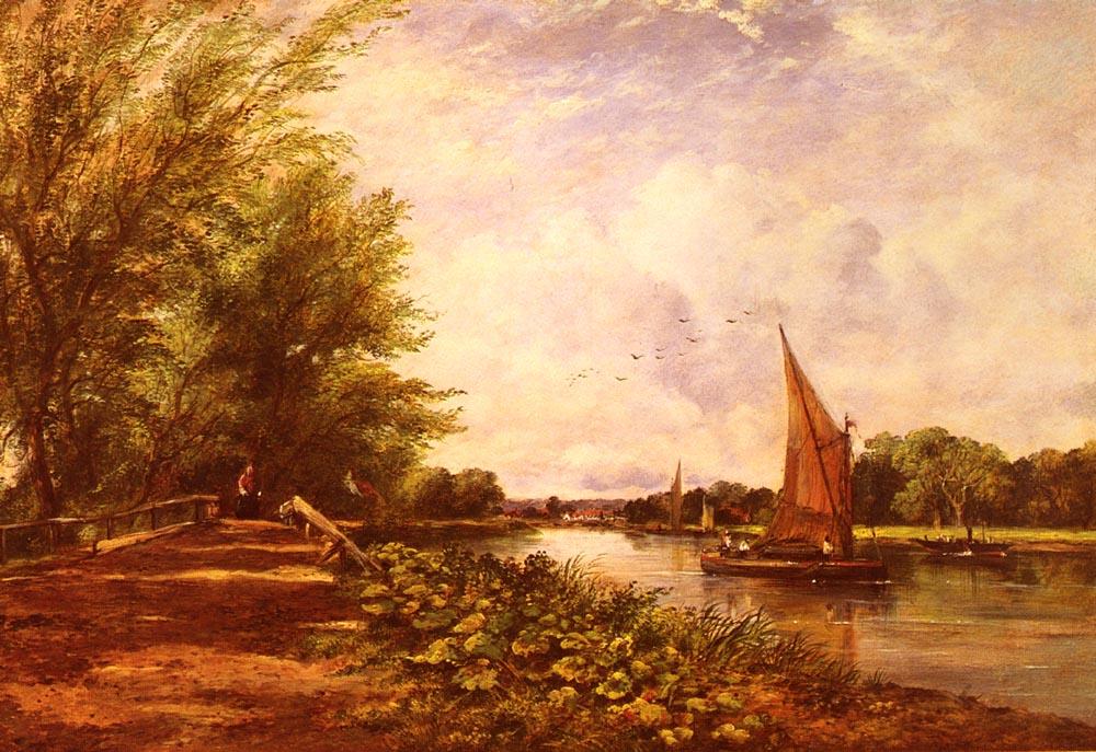 The Riverbank :: Frederick Waters Watts - River landscapes ôîòî