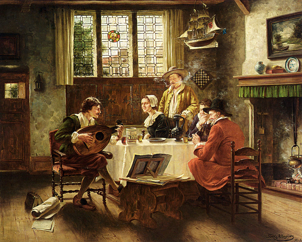 A Musical Interlude :: Fritz Wagner - Interiors in art and painting ôîòî