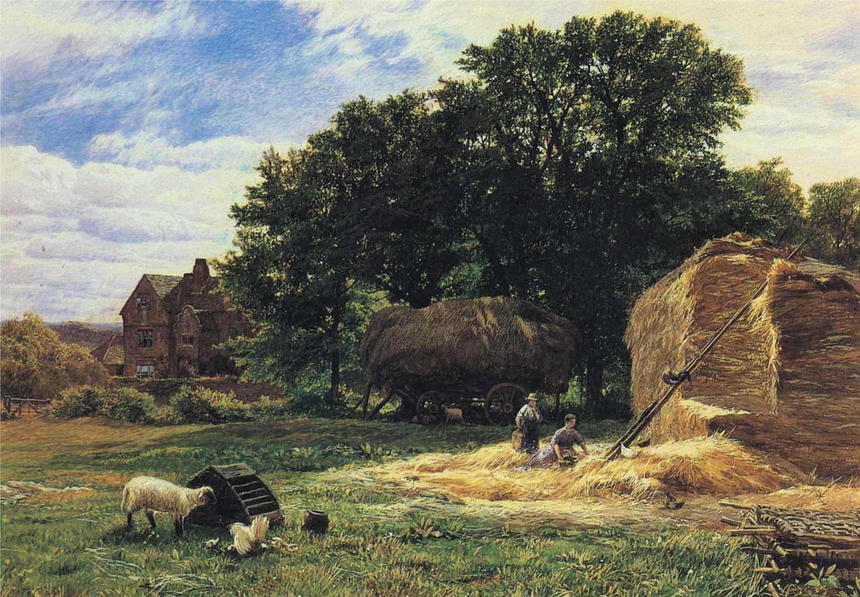 The Hayrick :: George Vicat Cole - Summer landscapes and gardens ôîòî