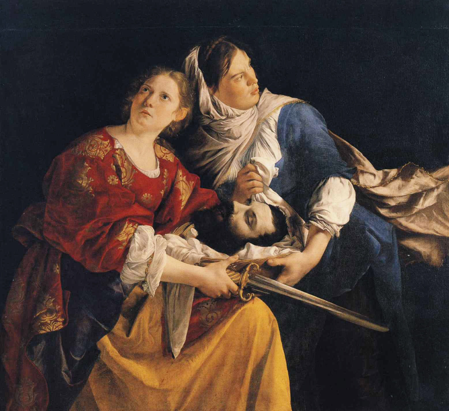 Judith and Her Maidservant with the Head of Holofernes :: Orazio Gentleschi - Bible scenes in art and painting ôîòî