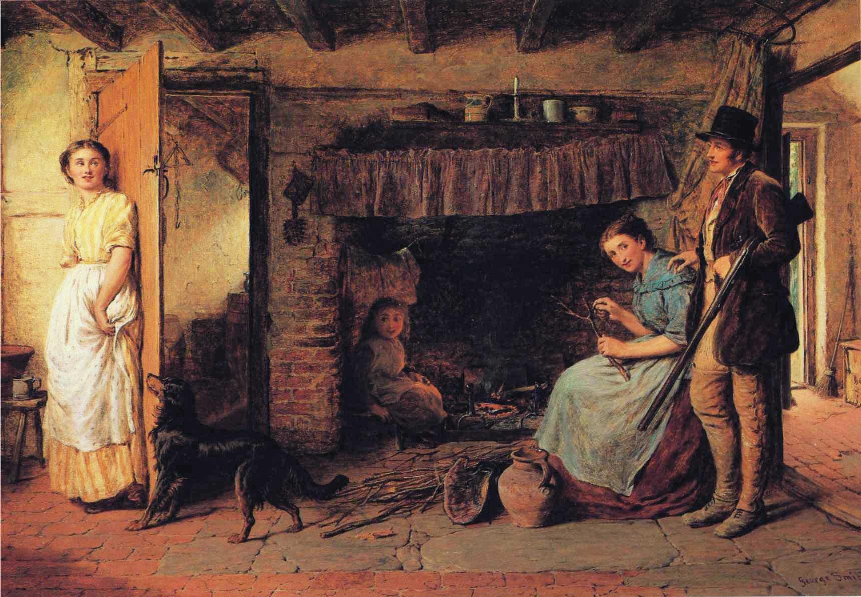 The Gamekeeper's Courtship :: George Smith - Romantic scenes in art and painting ôîòî