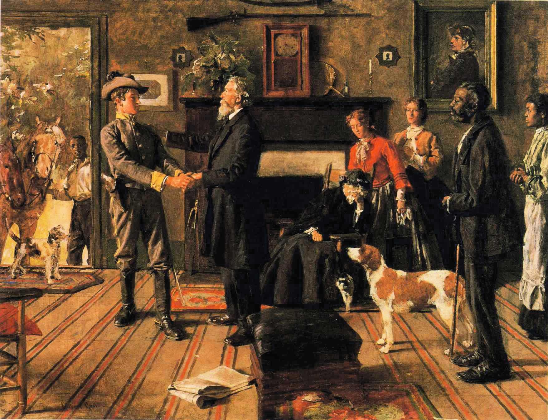 Leaving Home :: Gilbert Gaul - Interiors in art and painting ôîòî