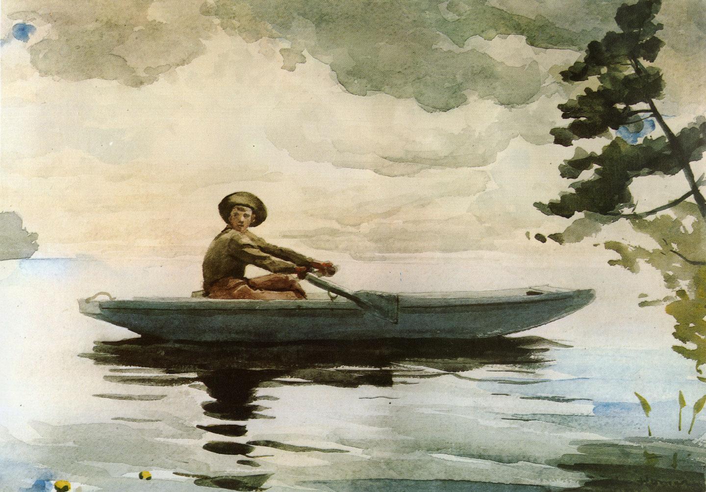 The Boatman :: Winslow Homer - Fishing scenes ôîòî