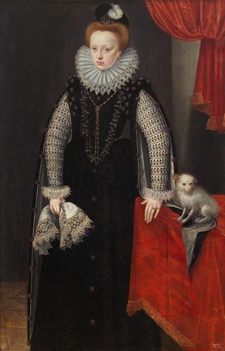 Duchess Sibylle of J?lich-Cleves-Berg :: Lucas van Valckenborch - 2 women portraits 16th century hall ôîòî