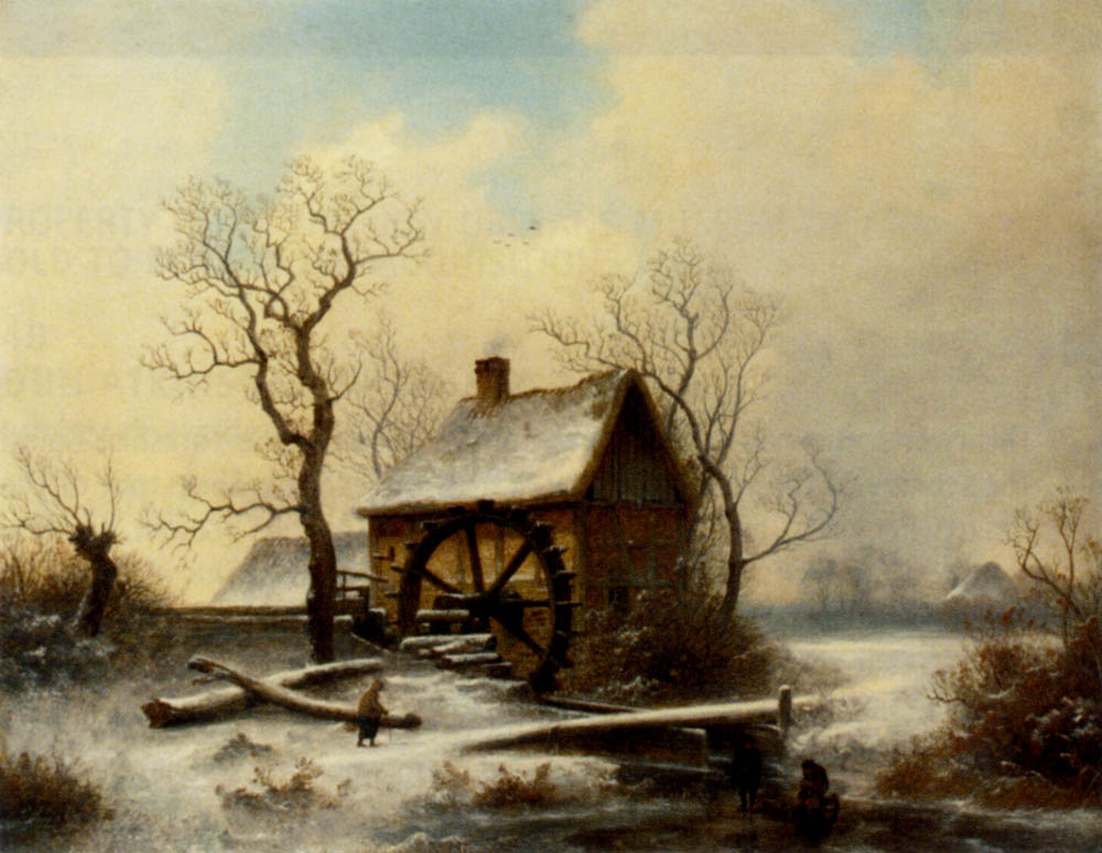 The mill in winter :: George Augustsus Williams - winter landscapes ôîòî