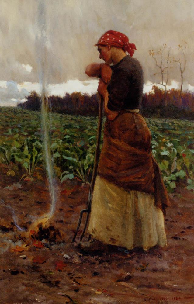 The Harvest Is Past, The Summer Is Ended :: George Faulkner Wetherbee - Village life ôîòî