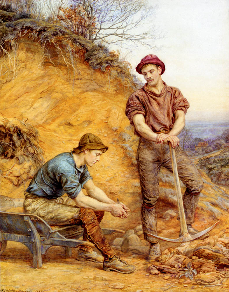 The Quarry Workers :: George Faulkner Wetherbee - men's portraits 20th century (1900-1930) first third ôîòî