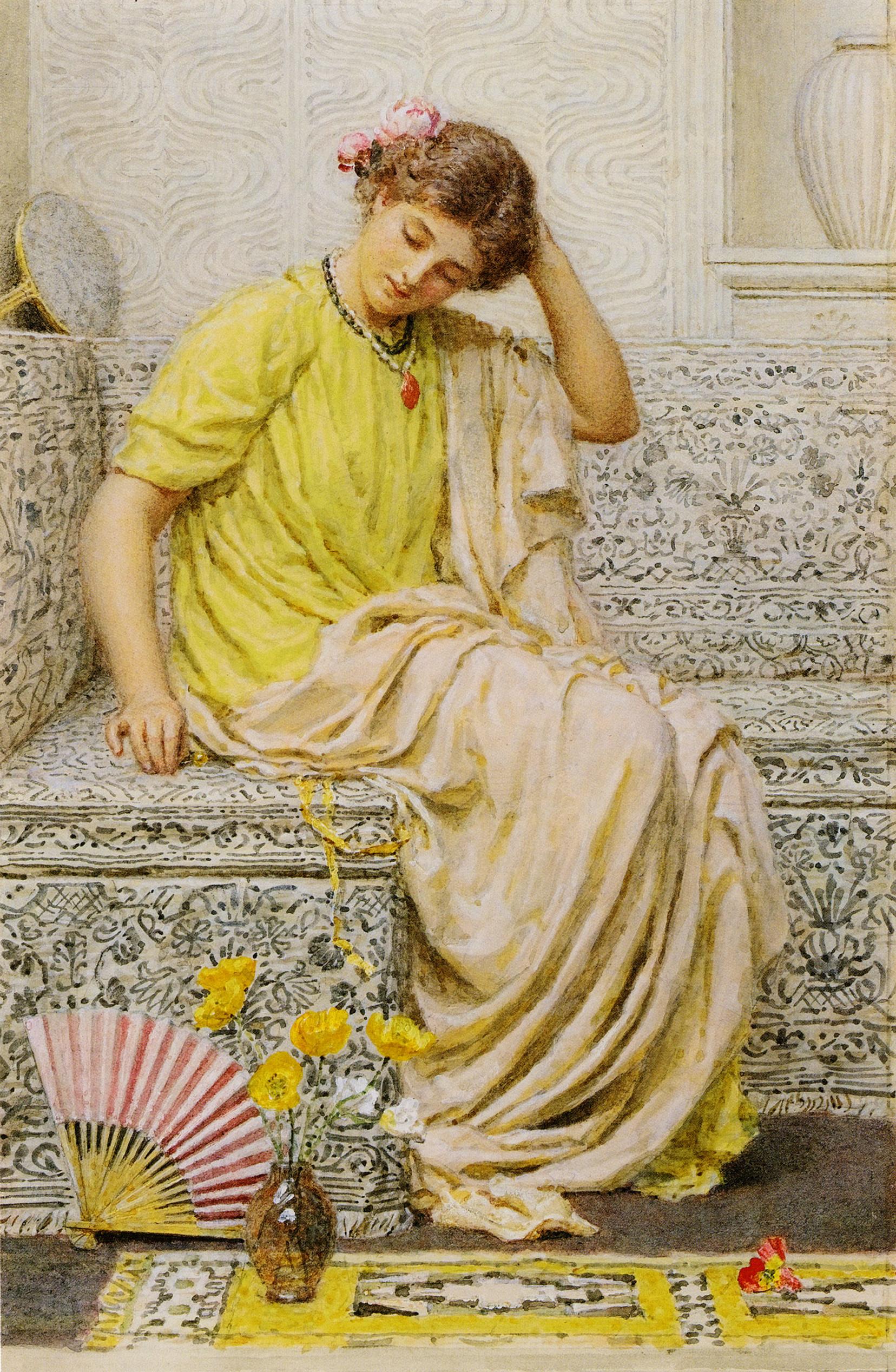 Hairpins :: Albert Joseph Moore - Antique beauties in art and painting ôîòî