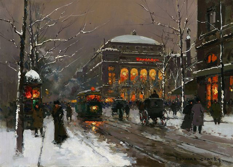 Chatelet in Winter :: Edouard Leon Cortes - Streets ôîòî