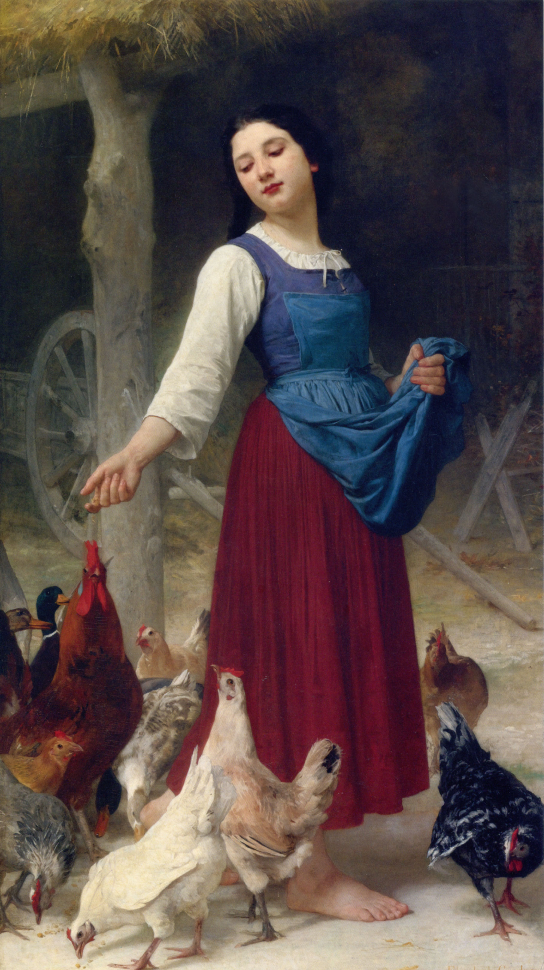 The Farmer's Daughter :: Elizabeth Jane Gardner Bouguereau - Young beauties portraits in art and painting ôîòî