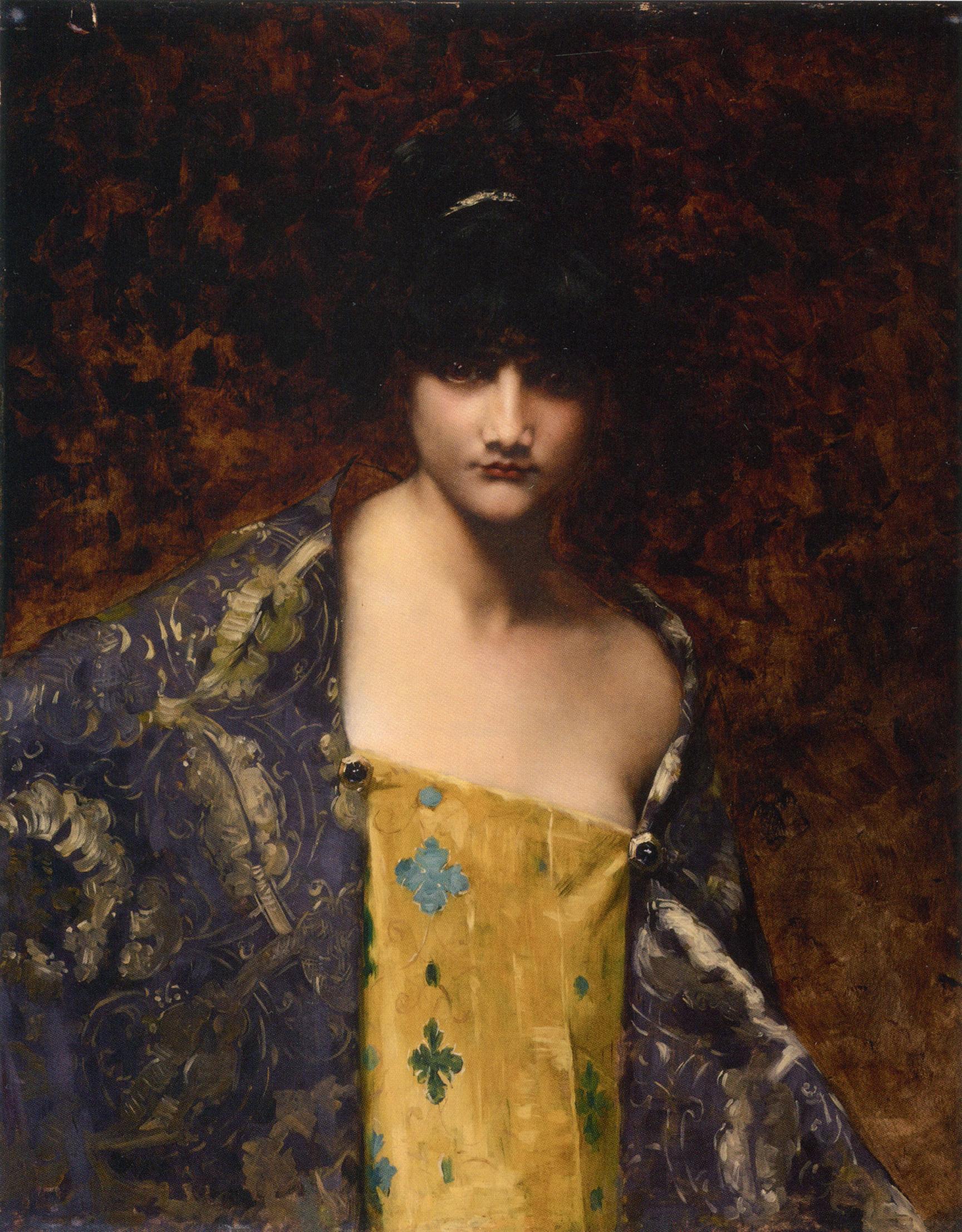 Dark Haired Beauty :: Juana Romani - Young beauties portraits in art and painting ôîòî