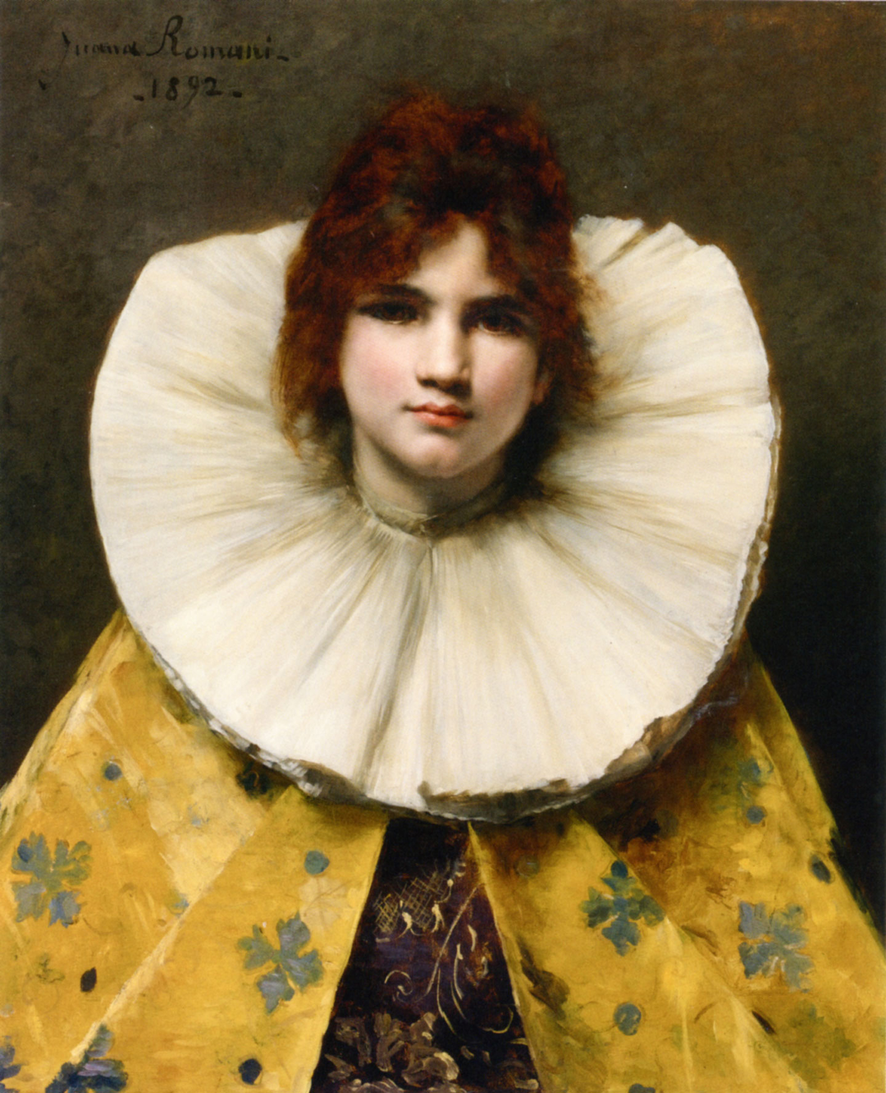 Young Girl with a Ruffled Collar :: Juana Romani - 7 female portraits ( the end of 19 centuries ) in art and painting ôîòî