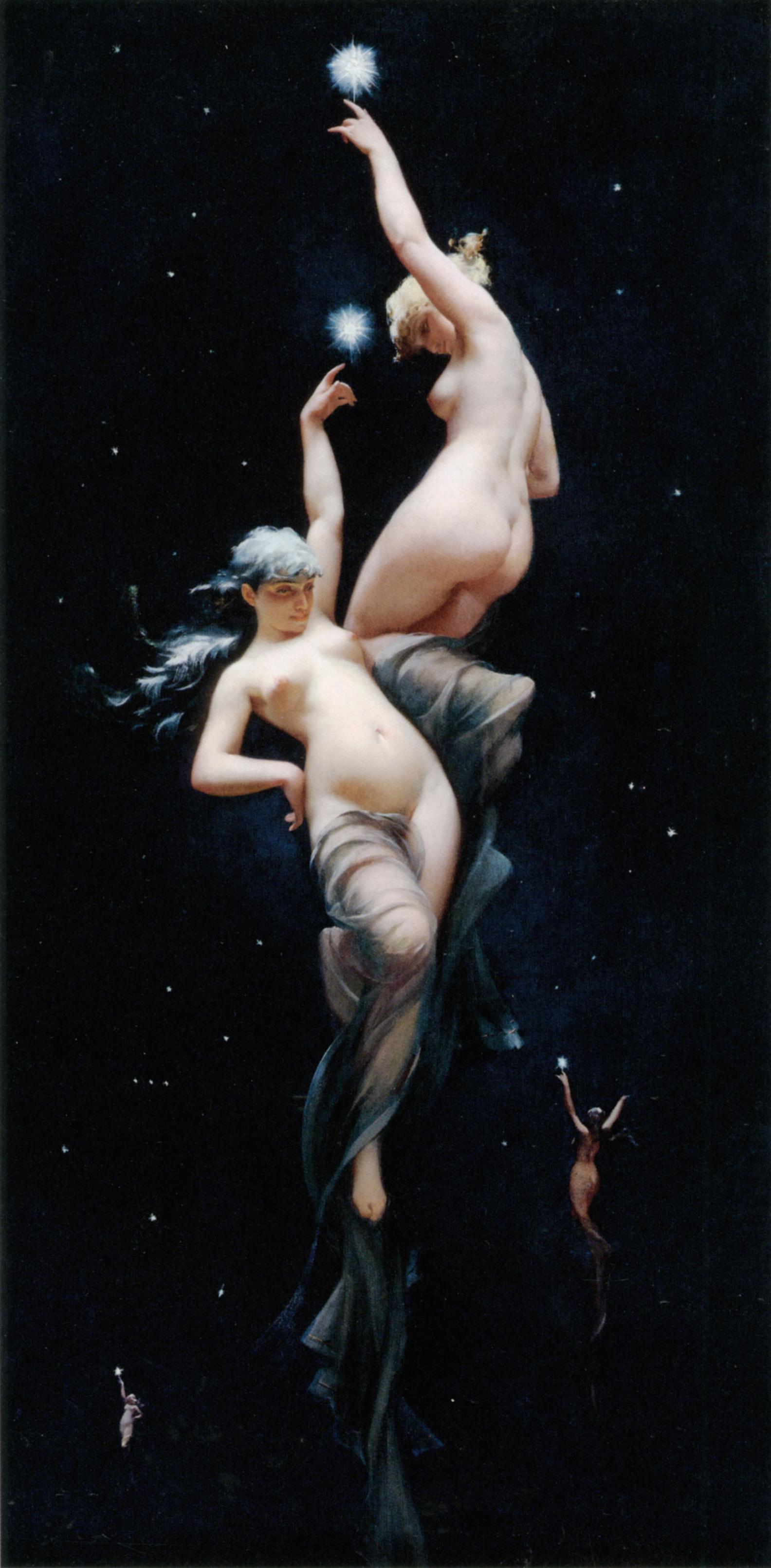 Moonlit Beauties :: Luis Ricardo Falero - Fantasy in art and painting ôîòî