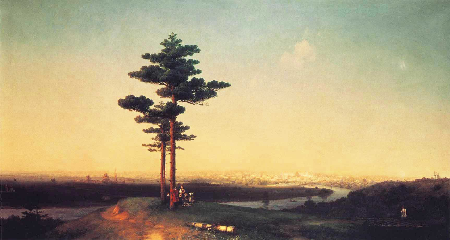 View of Moscow from the Sparrow Hills :: Ivan Constantinovich Aivazovsky - River landscapes ôîòî
