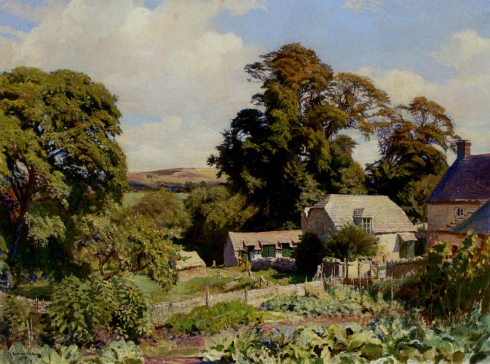 The Cottage Garden :: George Spencer Watson - Rural houses ôîòî