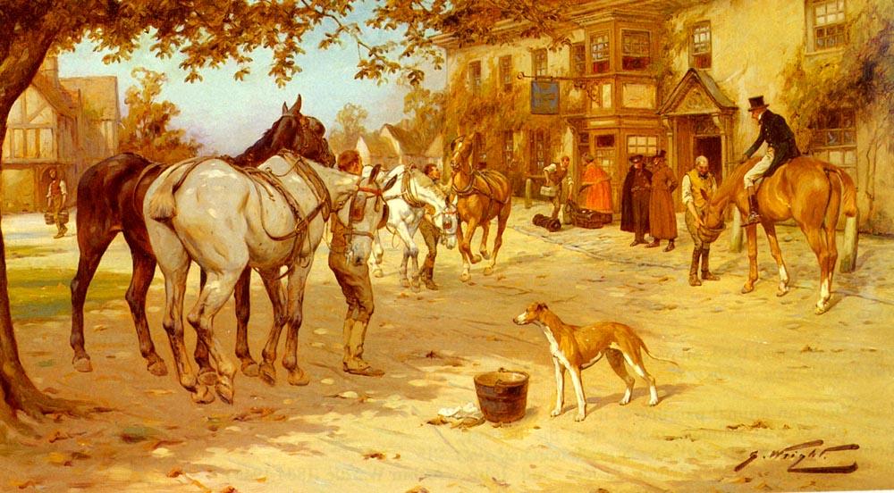 A Fresh Team :: George Wright - Horses in art ôîòî